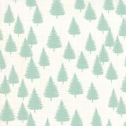 Moda Winterberry by Kate & Birdie - 3929 - Mint Pine Trees on Snow - 13143 12 - Cotton Fabric